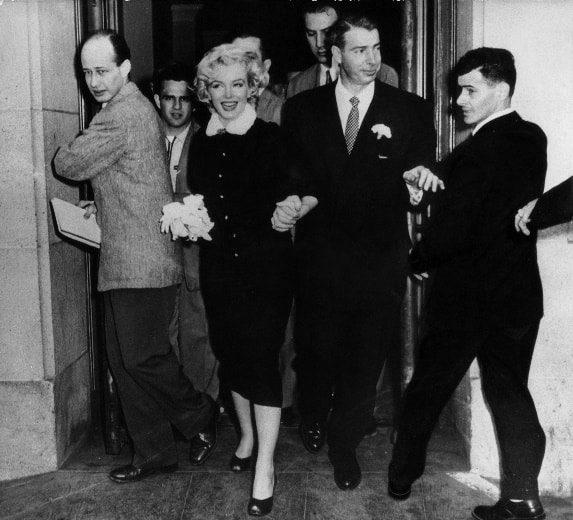 DiMaggio- Monroe wedding photo