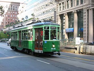 Line historic streetcar from Milan