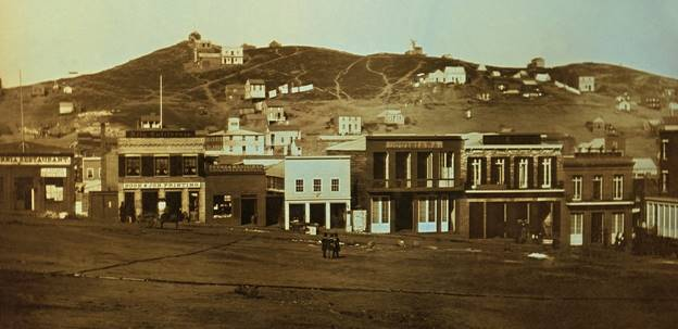 Portsmouth Square and Telegraph Hill 1850's