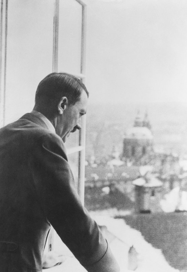 Hitler at The Prague Castle