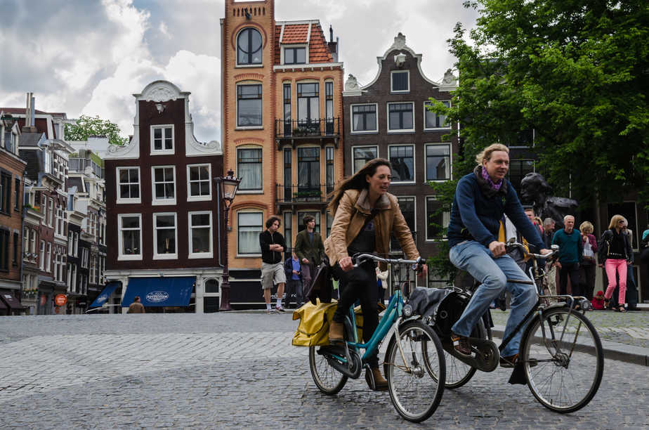 Cycling is the best way to get around Amsterdam