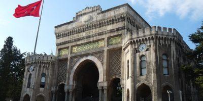 Historical gate of Istanbul University
