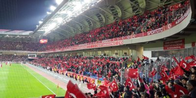 Turkish fans watching a national team game