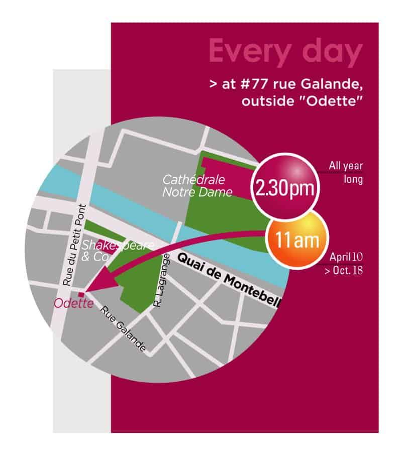 Latin Quarter tour Paris map