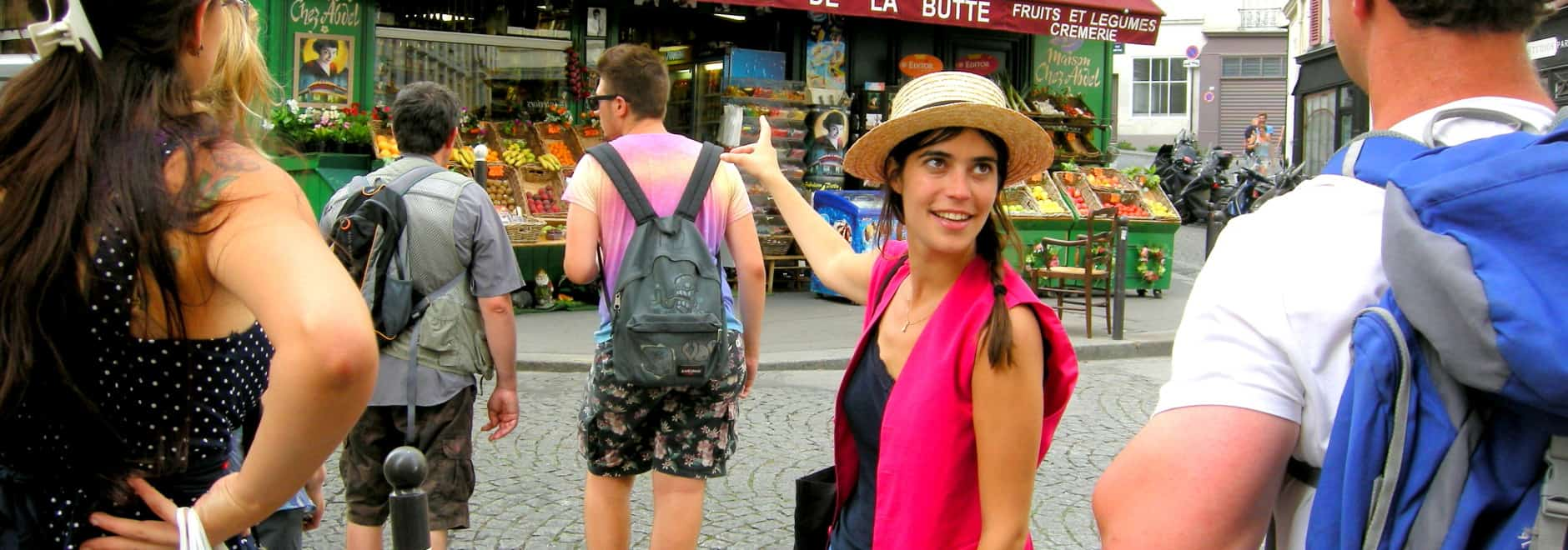 discover walks tour guide pink vests montmartre