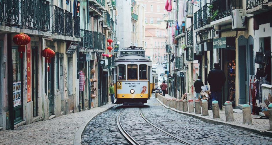 City train in Lisbon