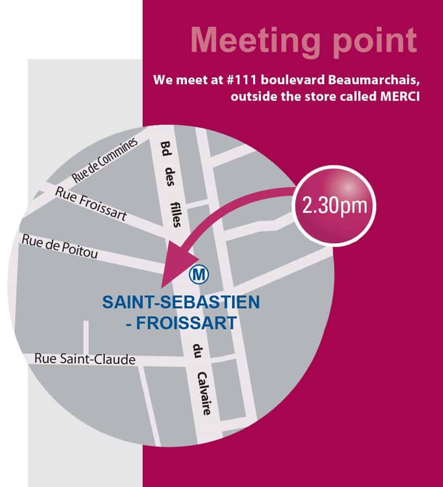 Meeting point Marais tour