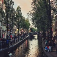 Amsterdal canals in the Red light